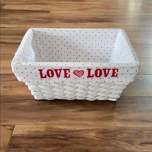Rectangular shape withe color wicker basket